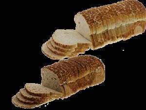 Gesneden wit en bruin tijgerbrood